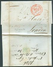 SPAIN TO GREAT BRITAIN Prephilately Complete Cover Coruña Cancellation 1846 FVF