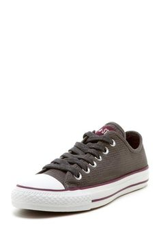 Womens Ox (cords) Sneaker in charcoal by Converse $60 - $26 at HauteLook. - Round cap toe - Lace-up vamp - Allover pinstripes - Grip sole Textile upper, rubber sole