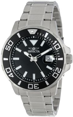 "Invicta watches : Invicta Men's 15178 ""Pro-Diver"" Stainless Steel and Black Dial Bracelet Watch Amazing Watches, Cool Watches, Rolex Watches, Watches For Men, Wrist Watches, Authentic Watches, Stainless Steel Watch, Sport Watches, Casio Watch"