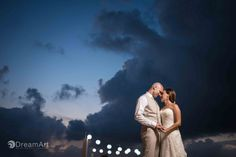 Bride and groom at Beach Palace Resort in Cancún, Mexico. Photo courtesy of #DreamArtPhotography. Special thanks to @prweddings #Bride #Groom #Sunset #Mexico #Cancun #Love #Wedding #WeddingPhotography #DreamArtPhotographyWeddings #PalaceResort