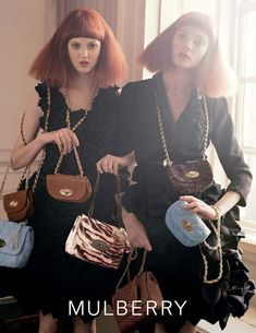 Lindsey Wixson & Nimue Smit by Tim Walker for Mulberry Spring 2011 Campaign