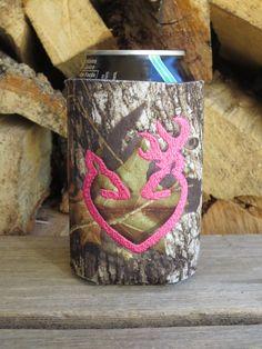 ONE buck and deer heart camo can koozie in your FAV by doodlegirls, $10.00