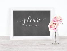 Please Take One Sign   Chalkboard Wedding, Wedding Sign, Favors Sign, Please Take One, Wedding Favors Sign, Printable Signs, Wedding Signage by ModWeddingStudio on Etsy https://www.etsy.com/listing/613021241/please-take-one-sign-chalkboard-wedding