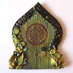 Celtic Fairy Door Pixie Portal Fairy EntranceGarden by Claybykim