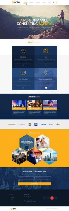 corporate website design by Mithum Corporate Website Design, Website Design Layout, Wordpress Website Design, Page Design, Web Design, Webpage Layout, Site Inspiration, Web Mockup, Social Media Design