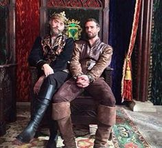 King Richard (Timothy Omundson) and Galavant (Joshua Sasse) from Galavant