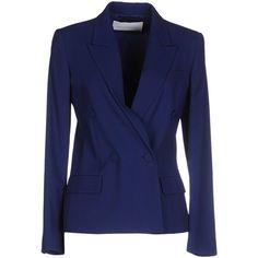 Viktor & Rolf Blazer ($725) ❤ liked on Polyvore featuring outerwear, jackets, blazers, blue, blazer jacket, double breasted jacket, blue double breasted blazer, long sleeve jacket and blue double breasted jacket