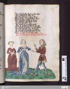 Schachzabelbuch - Cod.poet.et phil.fol.2 Fol. 232r dress front opens without lace - hooks?