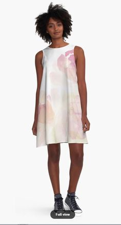 'Watercolor Kisses' A-Line Dress by TessaSanDiego Line, People, Cold Shoulder Dress, Blush, Shirts, Summer Dresses, Womens Fashion, Casual, Carousel