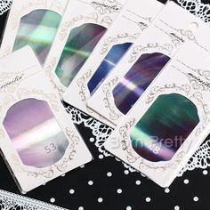 2,59 $ 1 Ficha 8 * 5cm Aurora Shattered Glass papel holográfico de transferência Nail Art Sticker 18 Colors - BornPrettyStore.com