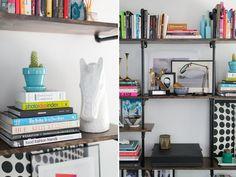librero estilizado Bookcase, California, Shelves, Desk, Furniture, Color, Home Decor, Environment, House Beautiful