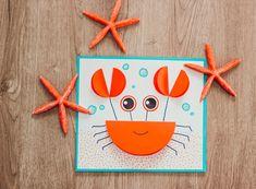 Le crabe en papier Papier Diy, Orange, Fruit, Kids, Making Memories, Red Paper, Glue Sticks, In The Rain, Love Birds