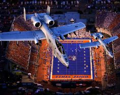 Flyover Bronco Stadium Picture at Boise State Bronco Photos