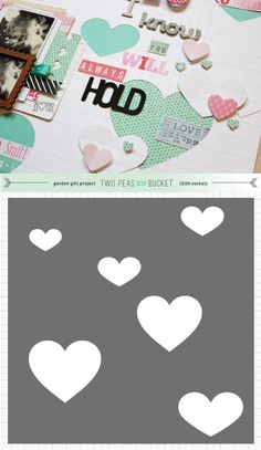 Free Hearts background cut file - by Lilith Eeckels #Silhouette #CutFile