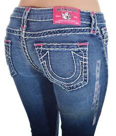 True Religion Womens Jeans Size 29 Legging Super T Pink Bartack NWT $317 #TrueReligion #Leggings