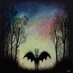 "Young is the Night 18"" x 18"" Oil, Acrlyic, & Resin in Wood Box 2015, ANDY KEHOE ART"