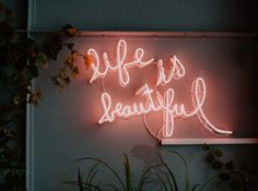life is beautiful LED signage photo – Free Neon Image on Unsplash Neon Led, Neon Licht, Neon Quotes, Blue Quotes, Tout Rose, Laptop Wallpaper, Wallpaper Notebook, Wallpaper Desktop, Black Wallpaper