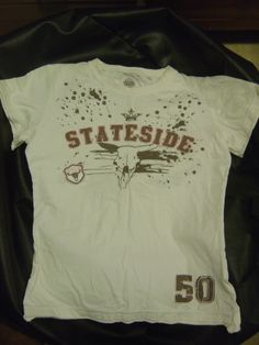 cream stateside tee from le coq sportif 100% cotton £1.50 size m  good used condition buy now at www.facebook.com/KarensClobber