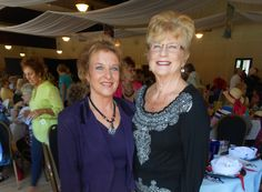Photo courtesy of Cheryl Sanchez   Janie Lacroix of Happy Valley, left, and Gerri Smith of Bella Vista attend the 35th annual Redding Emblem Club's Fashion Show and Luncheon on Saturday at the Redding Elks Lodge. See more Scene! photo page photos of North State people attending local public events at www.redding.com