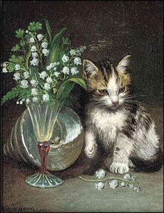 Le premier Mai - muguet en peinture - John Wilson Hepple (1853 - 1937)