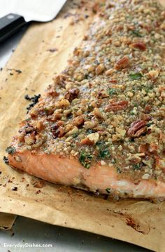 Friends and family will be totally impressed by this pecan-crusted honey mustard salmon, but they don't have to know it only took 30 minutes from start to finish!