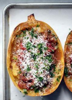 Spicy Roasted-Tomato Marinara with Spaghetti Squash