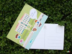 Una cartolina speciale con gli adesivi dei personaggi che animano Villa Carlotta. Un modo divertente per raccontare la visita!