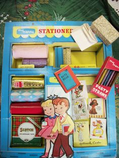 """Vintage 1959 """"My Merry"""" Stationery Store Play Set from Rustysecrets"""