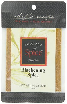 Colorado Spice Company, Beef, Poultry, Pork and Lamb Spice, Blackening Spice, 1.5-Ounce-Ounce-Ounce Packet (Pack of 12) -- See this great product.