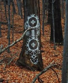 Slavic Symbol designs in the Mystical Forest