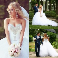 New Ivory/ White Lace Wedding Bridal Gown Dress Custom Size