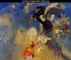 The Black Pegasus - Odilon Redon - www.odilon-redon.org