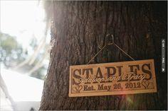 personalized wedding sign | VIA #WEDDINGPINS.NET