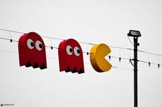 Pac Man and Co in Geneva by ~Attila-Le-Ain