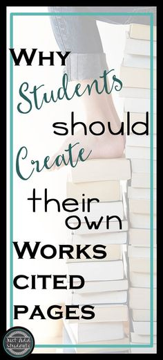 6 Reasons why your students should write their own works cited page.  (Rather than use easy bib!)  Take writing and research skills to the next level.
