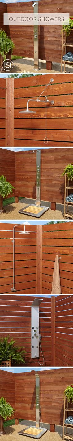 Whether you need a full shower system for entering and exiting your pool or a convenient way to rinse muddy or sandy feet and equipment from outdoor activities, choose from dozens of wall-mount or freestanding outdoor showers at Signature Hardware.