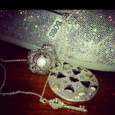 All my sparkly silver things (: