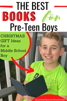 Great gift ideas for middle school boys. The best books for pre-teen boys. Need a christmas gift idea for the preteen boy on your list? Need a wishlist idea? Here are the books your middle schooler boy will LOVE!