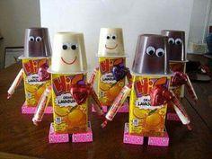 Cute Valentine's snack/treat robot!