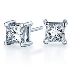 Resultado de imagen para earrings princess cut