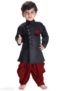 Checkout this latest Sherwanis Product Name: *Adorable Kid's Boy's Sherwani Set* Sizes:  0-6 Months, 3-6 Months, 6-9 Months, 6-12 Months, 9-12 Months, 12-18 Months, 18-24 Months, 0-1 Years, 1-2 Years, 5-6 Years, 6-7 Years, 7-8 Years, 8-9 Years, 9-10 Years, 12-13 Years Easy Returns Available In Case Of Any Issue   Catalog Rating: ★4.2 (731)  Catalog Name: Adorable Kid's Boy's Sherwani Sets Vol 4 CatalogID_326584 C58-SC1172 Code: 028-2436850-0612
