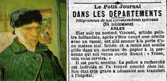 articles/Van Goghs own words after cutting his ear recorded in Paris newspaper