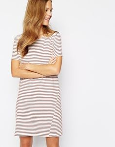 Enlarge People Tree Organic Cotton T-Shirt Dress in Stripe