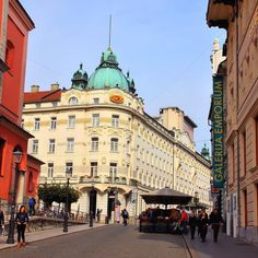 The hotel we are staying at in Ljubljana Grand Union is one of the best in Slovenia. It is located in the heart of Old Town in the historical building. We absolutely love it