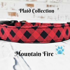 """Excited to share this item from my #etsy shop: Red Buffalo Plaid Dog Collar, Martingale Upgrade Available, Collars  All Adjustable, Premium Fabric, Strong  Durable, Up to 1.5"""" Widths Plaid Dog Collars, Pet Collars, Martingale Dog Collar, Handmade Dog Collars, Fall Plaid, Fall Accessories, Christmas Dog, Valentine Dog, Cool Patterns"""