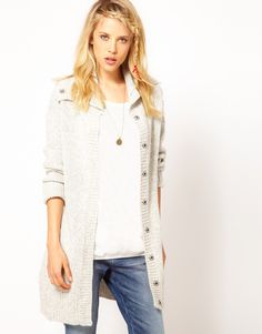 Wrangler Cowl Neck Long Cardigan