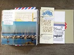 fun travel mini by Heather Nichols #scrapbooking