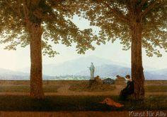 Caspar David Friedrich - Gartenterrasse