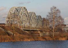 On the other side of the railway bridge in Riga, Latvia Bridge, Photographs, Photos, Bridges, Attic, Bro