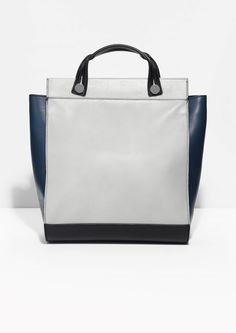 & Other Stories   Slide Handle Leather Bag